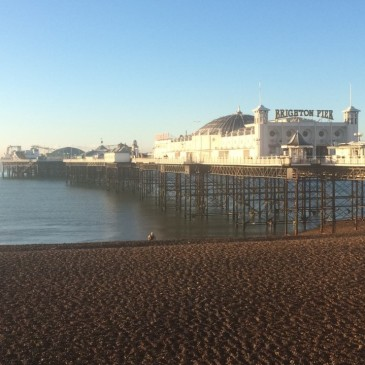 The Brighton Pier at sunrise