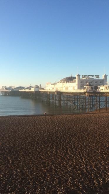 The Brighton Pier at sunrise